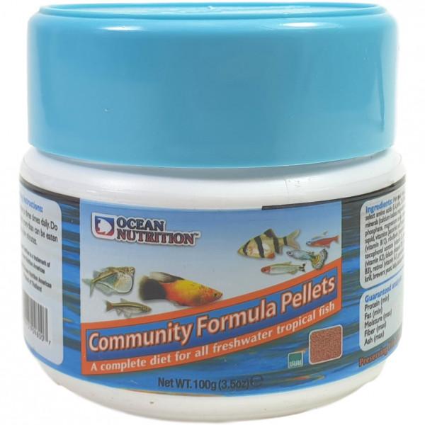 Ocean Nutrition Community Pellet 100 g Zierfischfutter für Süßwasserfische