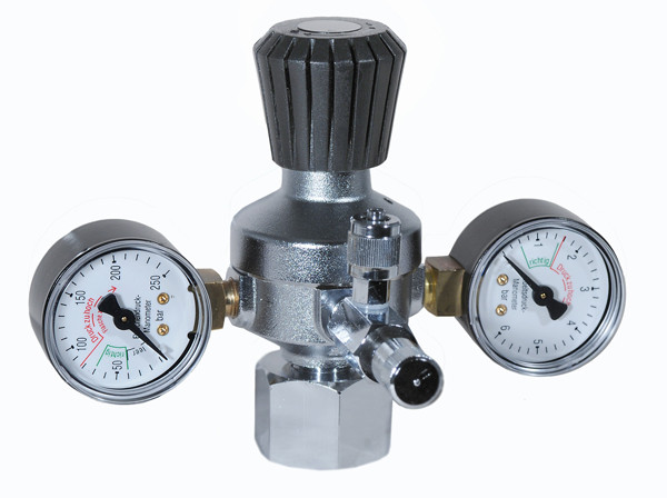 Aqua-Light CO2 Druckminderer T-Model mit 2 Manometer und Dosierventil