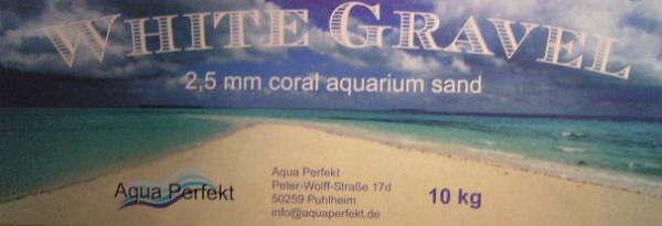 White Gravel 25 kg Aquariensand verschiedene Körnungen