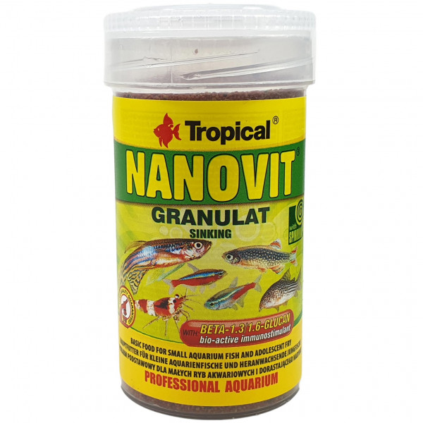Tropical NANOVIT GRANULAT 70 g / 100 ml