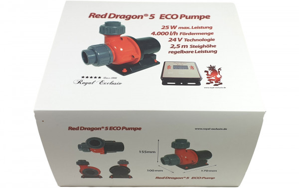Royal-Exclusiv Red Dragon® 5 ECO 25 Watt 4,0m³