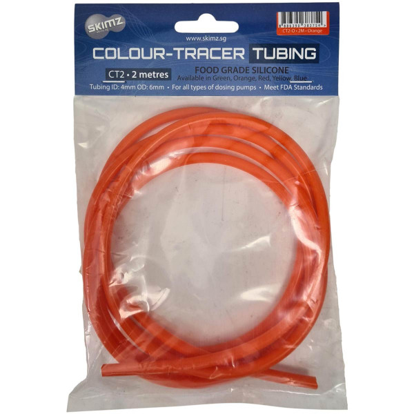 Silikonschlauch orange 4 / 6 mm 2 Meter