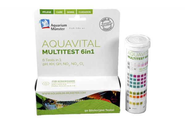 Aquarium Münster Aquavital Multitest 6 in 1 (50 Sticks)