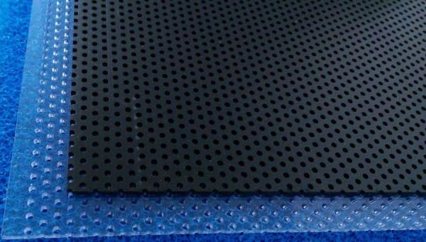 Lochplatte PVC schwarz 1000 x 495 x 3 mm