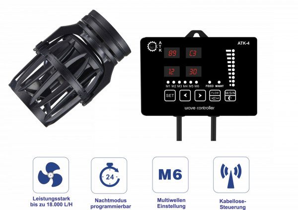ATK-4 Strömungspumpe Touch - Wavemaker 24V - 18.000 L/H