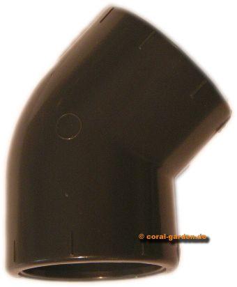 Winkel PVC 45° 63mm