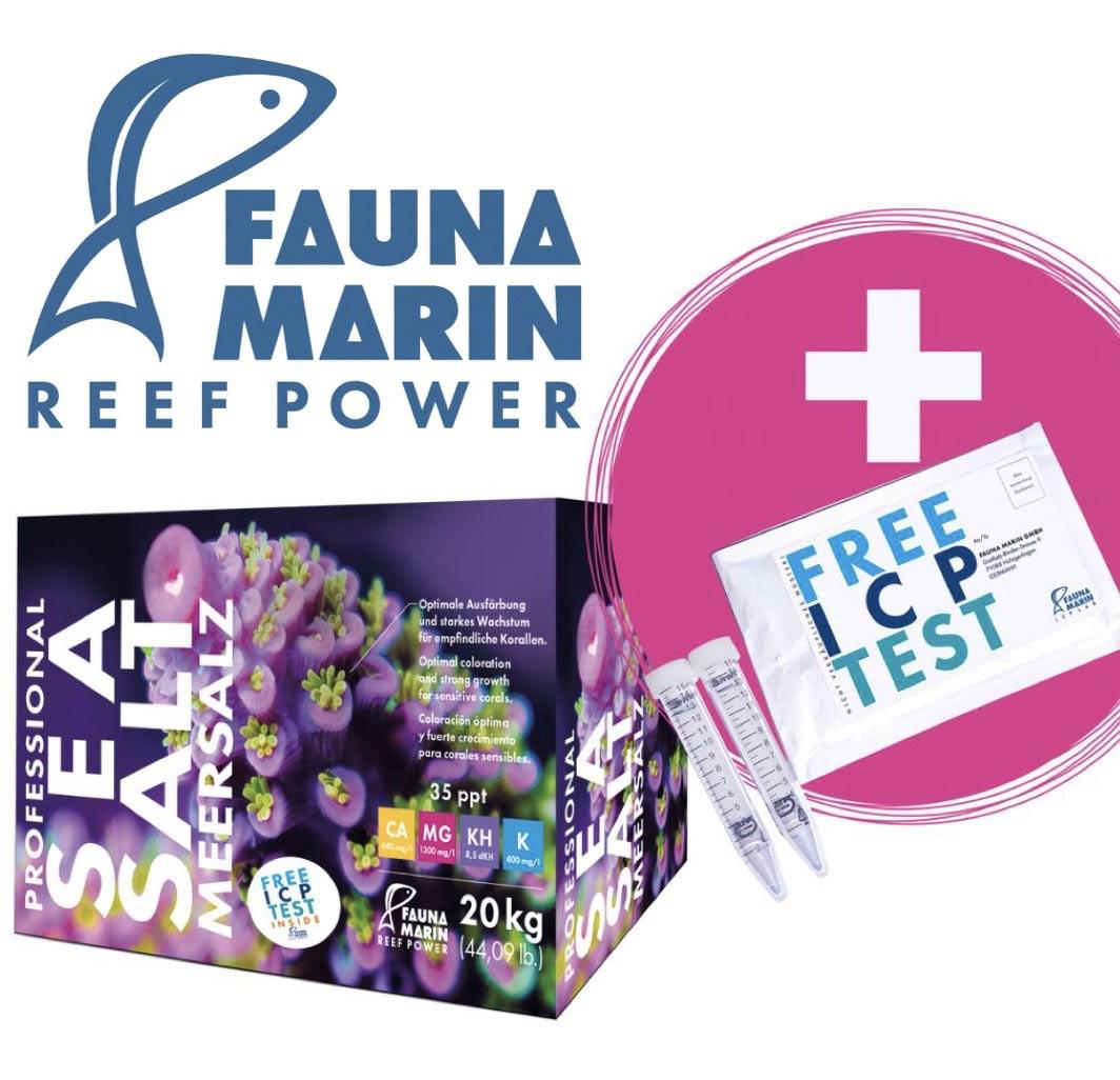 SUPER-SALE: Fauna Marin Salz 20 kg + Free ICP Analyse