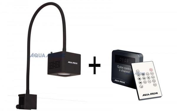 Aqua Medic Qube 50 W Plant LED Spot + Controller im Set