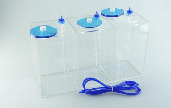 Flüssigkeitsbehälter 3x1,5 Liter transparent