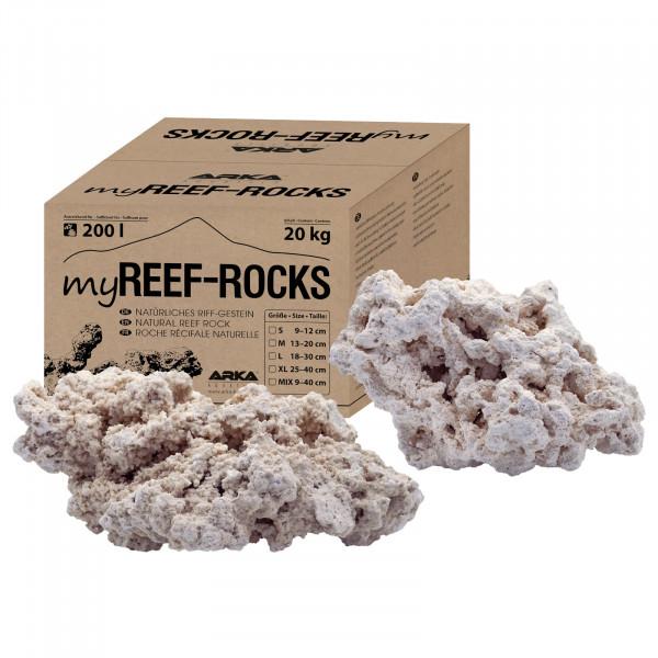 ARKA Aquatics myReef-Rocks 20 kg Karton | verschiedene Größen