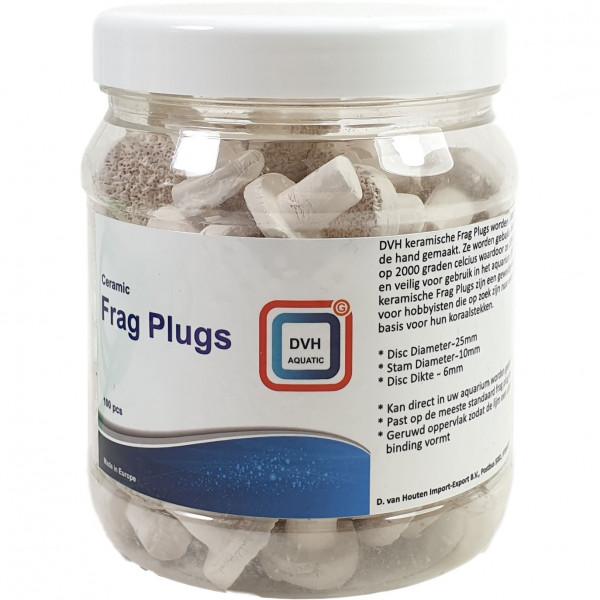 DVH Aquatic Ceramic Frag Plugs | 100 St. Ablegersteine für Korallenableger