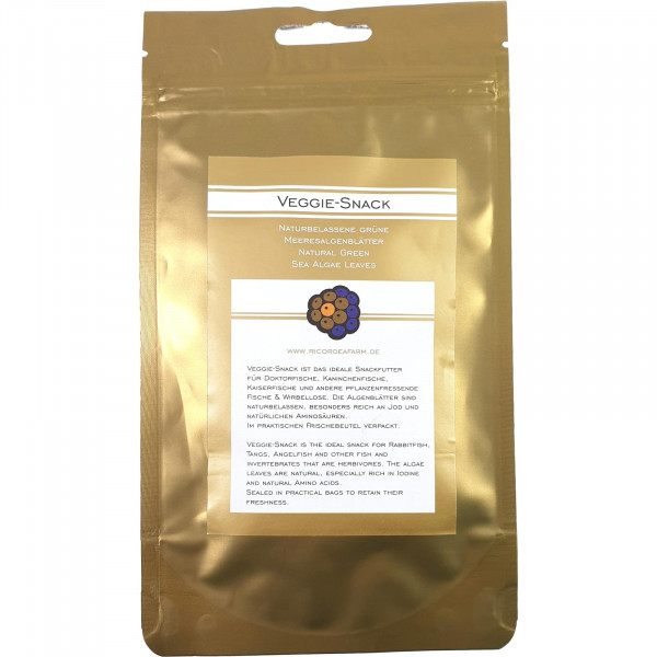 Ricordea Farm Veggie Snack 15 Blätter 100% getrockneter Seetang