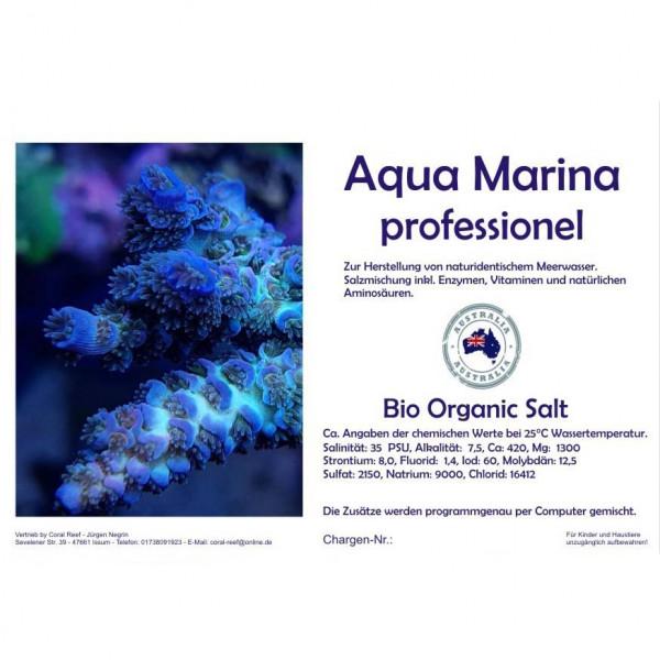 Aqua marina professionel-marine Salt | Salzmischung inkl. Enzymen, Vitaminen, Aminosäuren