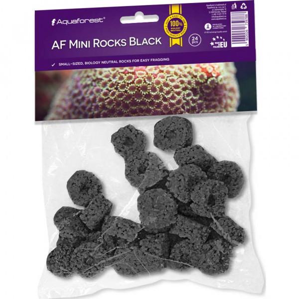 Aquaforest Mini Rocks black   24 Stück Ablegersteine schwarz 35 mm