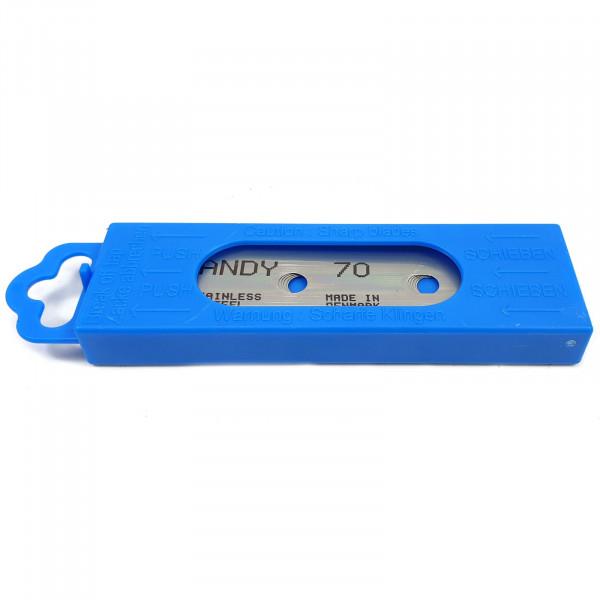 Ersatzklingen 70 mm 5 Stück für Aqua Handy Klingen-Scheibenreiniger