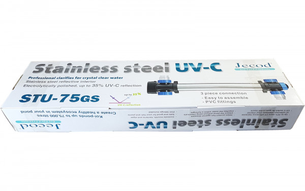 Jecod STU - 75GS UVC Klärer Edelstahl 75 Watt
