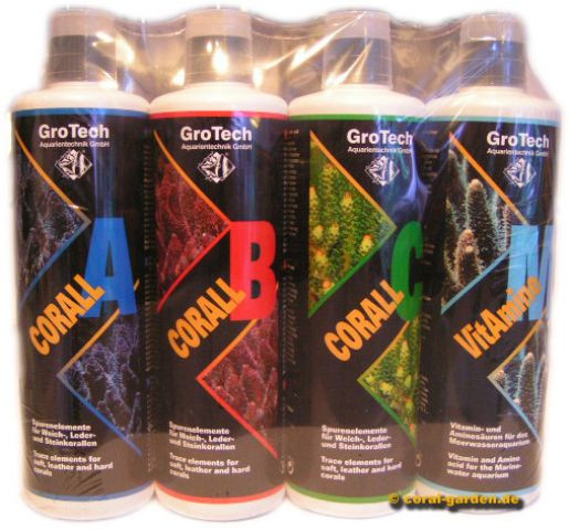 GroTech Corall A,B,C + ReefClear 500 ml Set