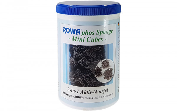 ROWA phos Sponge Mini Cubes 3-in-1 Aktivwürfel 1000 ml